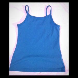 Girls size 7/8 LEI turquoise camisole